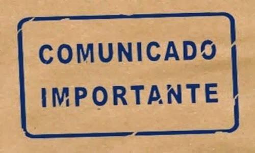 Comunicado Importante 25 de octubre